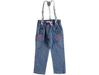 джинсы на подтяжках 298132